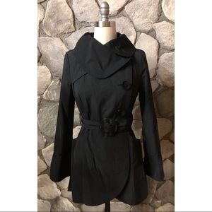 Soia & Kyo Black double breasted trench coat Med